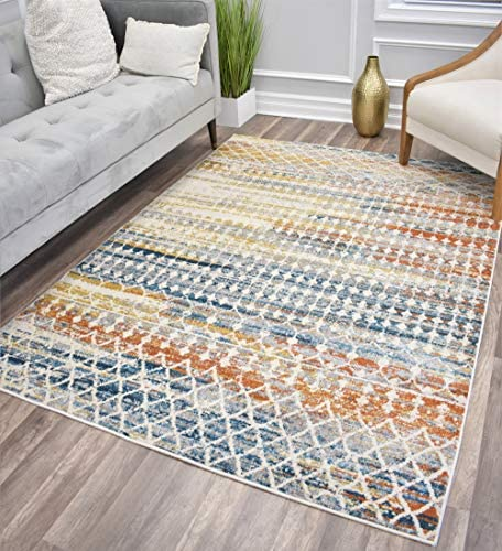 CosmoLiving Manhattan Collection Area Rug 8' x 10' Tribal Harvest