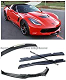 #1: Z06 Z07 Stage 2 Style Carbon Fiber Front Bumper Lip W/ Side End Caps Splitters + Side Skirts Rocker Panels + PainteCarbon Flash Rear Spoiler Assembly Clear Tinted WickerBill For 14-Up Corvette C7 BASE