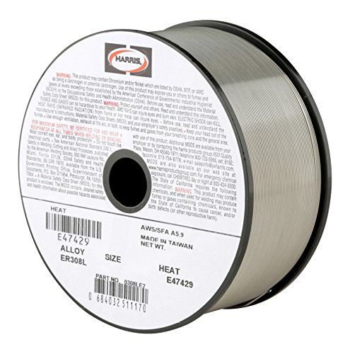 Harris 0308LE5 308L Welding Wire, Stainless Steel Spool, 0.030'' x 10 lb. by Harris