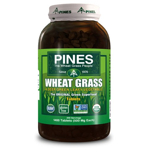 Pines International Wheat Grass - 500 mg - 1400 - Pines Wheatgrass Tablets