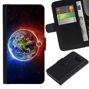UNIQCASE - Samsung Galaxy S6 SM-G920 - Space Planet Galaxy Stars 63 - Cuero PU Delgado caso cubierta Shell Armor Funda Case Cover
