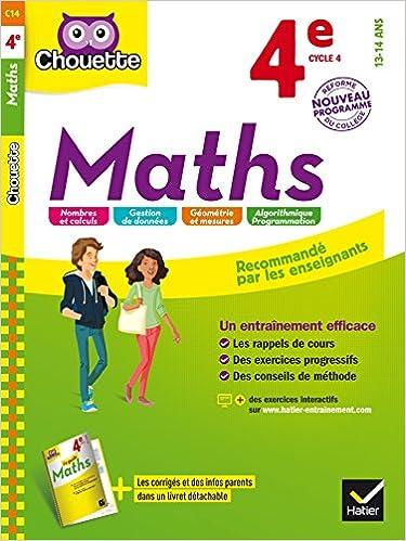 chouette entrainement mathematiques de la 4e a la 3e 13 14 ans corriges