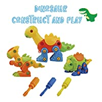 Haite Take Apart Dinosaur Toys, STEM Learning, DIY Educational Construction Engineering Building Blocks Set, Pack of 3
