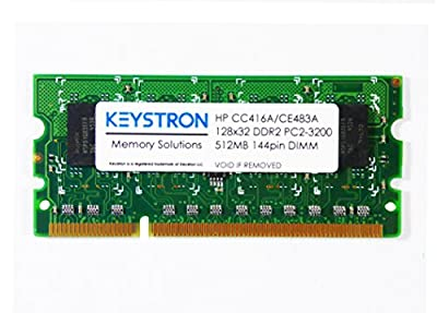 512MB 144pin DDR2 x32 Memory DIMM for HP LaserJet Enterprise 600 printer M602 series M602n, M602dn, M602x by Keystron, LLC