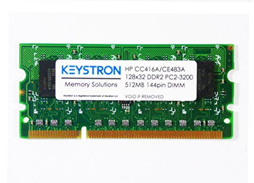 512MB 144pin DDR2 x32 Memory DIMM for HP LaserJet Enterprise 600 printer M602 series M602n, M602dn, M602x by Keystron