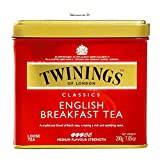 Twinings English Breakfast Loose Leaf Tea Tin 7.05 oz each (5 Items Per Order)