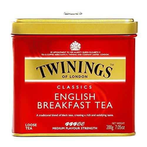 Twinings English Breakfast Loose Leaf Tea Tin 7.05 oz each (2 Items Per Order) (Twining Leaf)