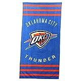 The Northwest Company NBA Striped Beach & Bath Towel 30'' x 60'' (Oklahoma City Thunder)