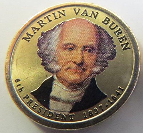 2008 Various Mint Marks Van Buren Presidential Colorized Dollar Choice Uncirculated