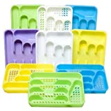 Yellow 5 Section Slotted Cutlery Tray