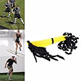 FidgetFidget Ladder Football Speed Training Agility Soccer Training Fitness EquipmentBlack