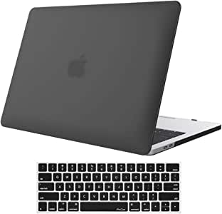 ProCase MacBook Pro 13 Case 2020 2019 2018 2017 2016 Release A2159 A1989 A1706 A1708, Hard Case Shell Cover and Keyboard Skin Cover for MacBook Pro 13 Inch with/Without Touch Bar –Black