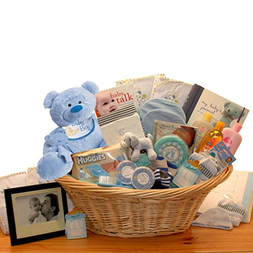 Just for The New Baby Boy – Deluxe Welcome New Baby Boy Gift Basket