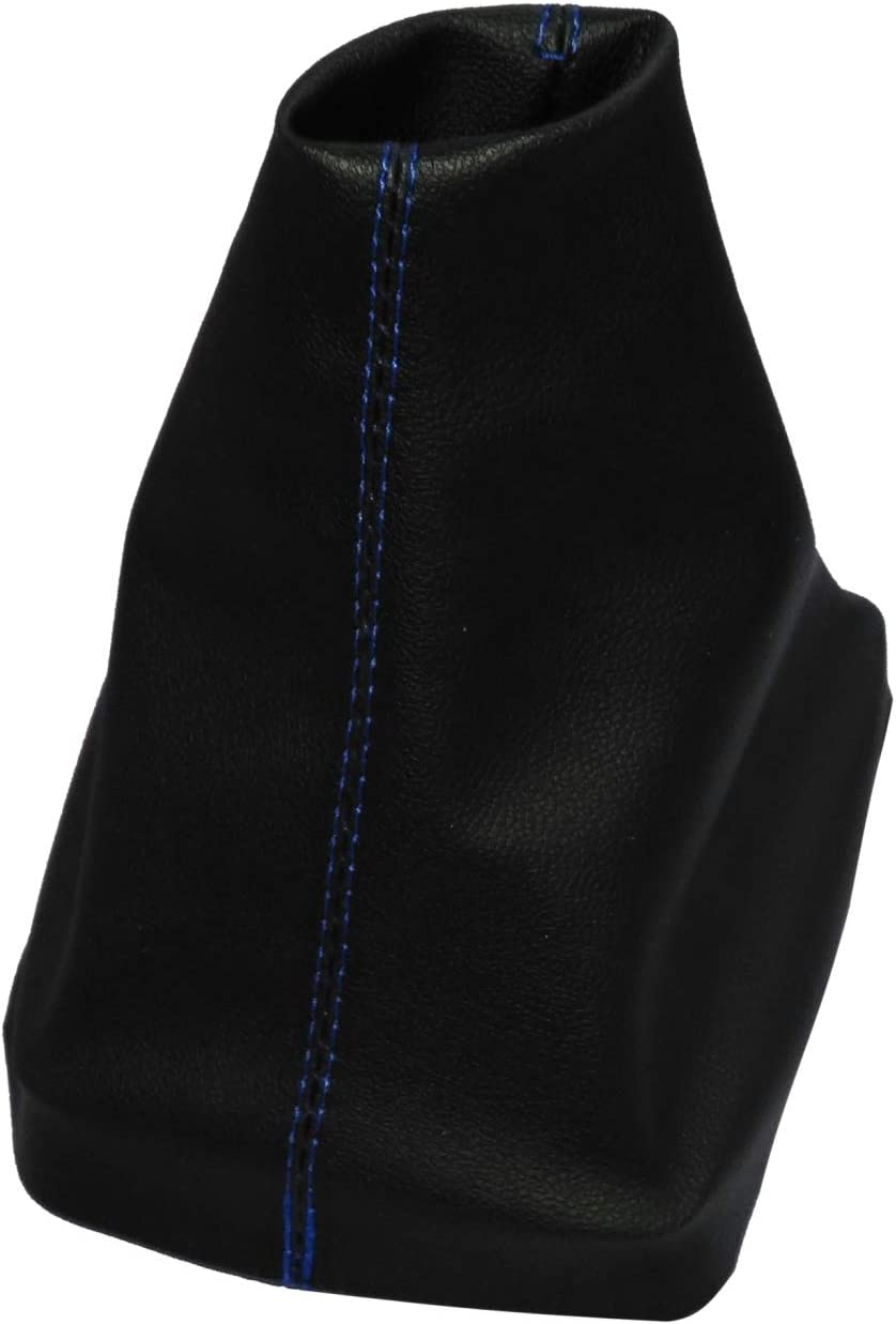 negro con costuras negro AERZETIX Funda para palanca de cambios de piel sint/ética con costuras de colores variables