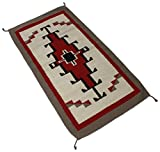 Splendid Exchange Hand Woven Wool Southwest Area Rug, 2.7 by 5.3 foot, Big Diamond Red and White Review