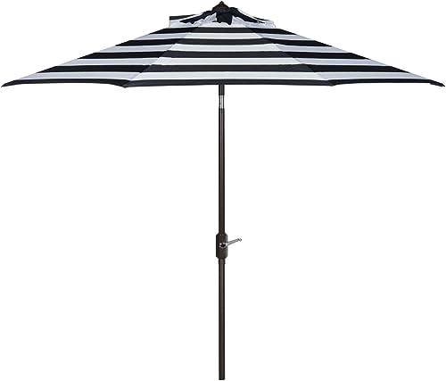 Safavieh PAT8004B Outdoor Collection Iris Fashion Line Auto Tilt Umbrella