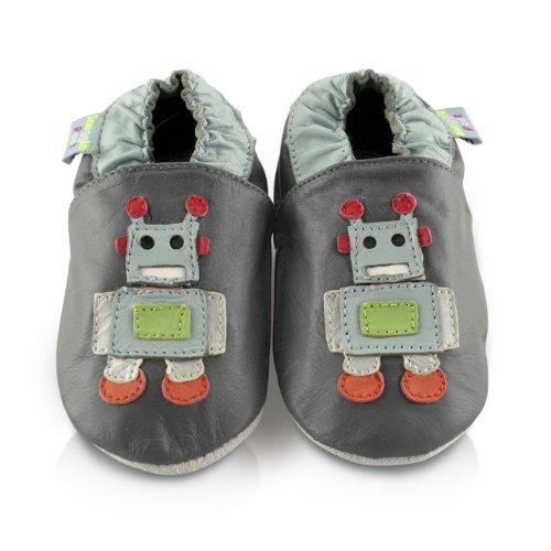 Snuggle Feet - Suaves Zapatos De Cuero Del Bebé robot (18-24 meses)
