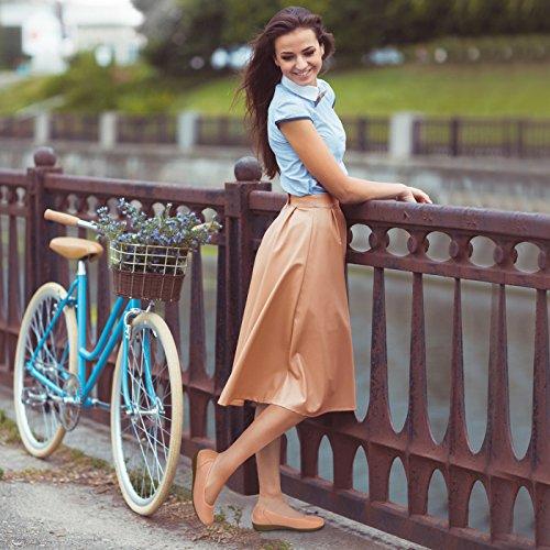 Tessamino Dames Ballerina Van Herten Huiden | Elegant | Breed H | Groen Voor Storting