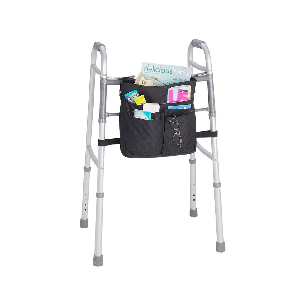 Juvo Products Universal Mobility Tote for Wheelchairs/Rollators/Walkers, Includes Detachable Shoulder Strap, Tan (UT203)
