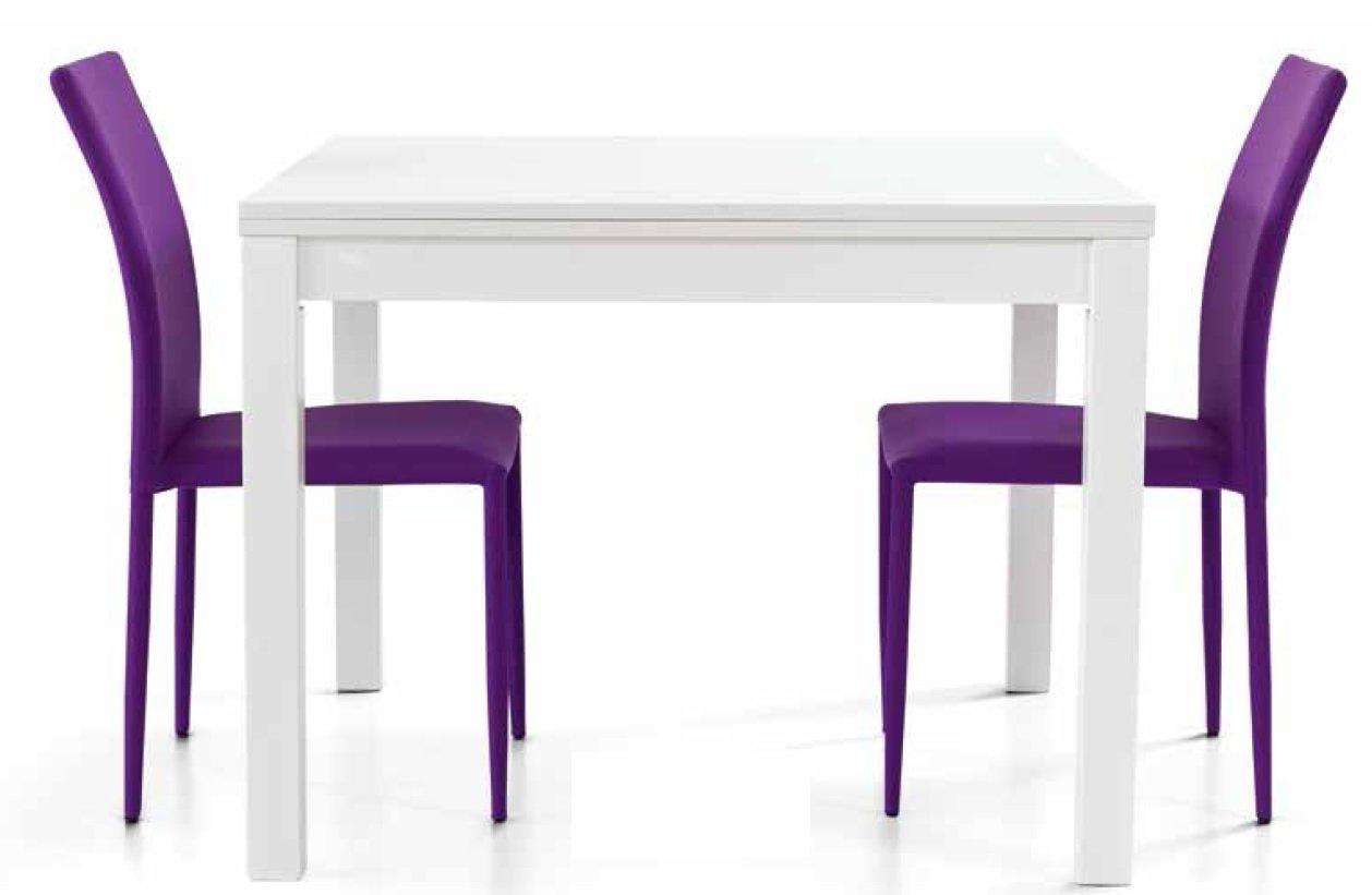 Legno Bianco Frassinato : Montefioredesign tavolo quadrato allungabile in legno