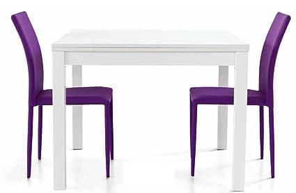 Legno Bianco Frassinato : Montefioredesign tavolo quadrato 90x90 allungabile in legno colore