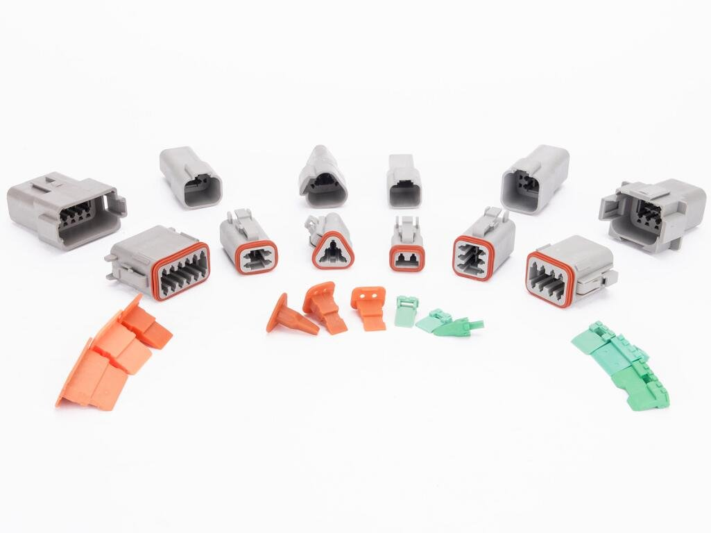 CNKF 1 Sets Deutsch DT 2P,3P,4P,6P,8P,12P way sealed gray male and female auto Waterproof Electrical Wire Connector Plug housing