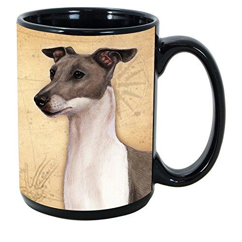 Imprints Plus Dog Breeds (A-K) Italian Greyhound, Blue 15-oz Coffee Mug Bundle with Non-Negotiable K-Nine Cash by (096) ()