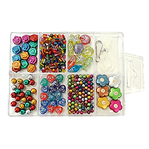 Linpeng Bead Box, Shapes of Flower with FREE spacers and charms