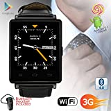 Indigi 3G GSM Unlocked Smart Watch & Phone Android 5.1 OS WiFi + GPS(Maps) + Google Play + Heart Rate + Bluetooth Headset
