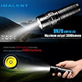 DZT1968 IMALENT DN70 XHP70 3800LM 26650 LED 26300cd 7Mode Flashlight Tactical Rechargeable Lighting