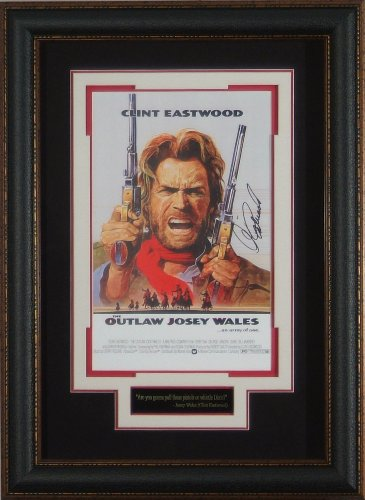 Outlaw Josey Wales Clint Eastwood Signed 11X17 Framed Movie Poster