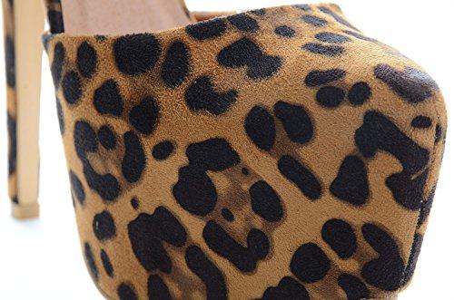 Fourever Funky - Sandalias de vestir para mujer leopardo