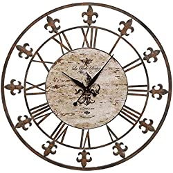 Deco 79 Metal Clock to Track the Time in Style