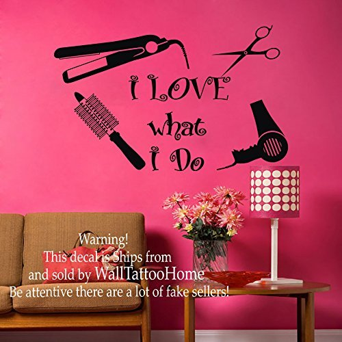 Wall Decal Beauty Salon Hair Spa Fashion Styling is my life Haircut Scissors Decals Vinyl Sticker Decor Art Mural Black Friday Sale MN871