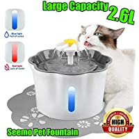 Pet Fountain with Water Filter for Cat Dog Water Drinking,2.6L Electric Automatic Pet Fountain for Healthy and Hygienic…