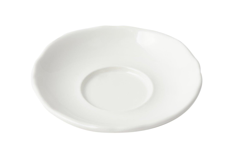 Bon Chef 1029 Aluminum Saucer, 5-1/4'' Diameter, Sandstone White (Pack of 12)