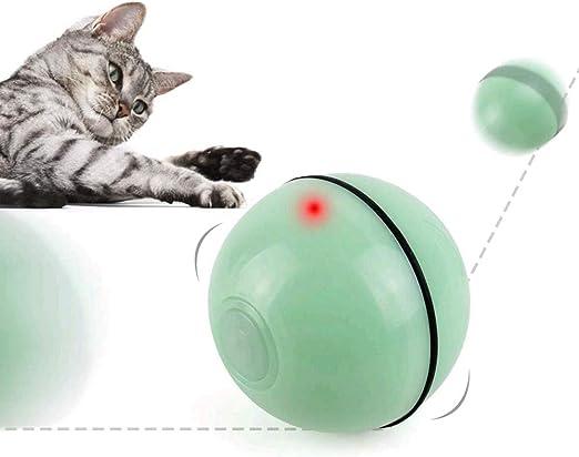 PETEMOO Juguetes para Gatos Interactivo Automático Rolling Ball Recargable Luz LED Entretenimiento Mascotas Ejercicio Ejercicio Chaser Juguete para Gatos y Perros: Amazon.es: Productos para mascotas