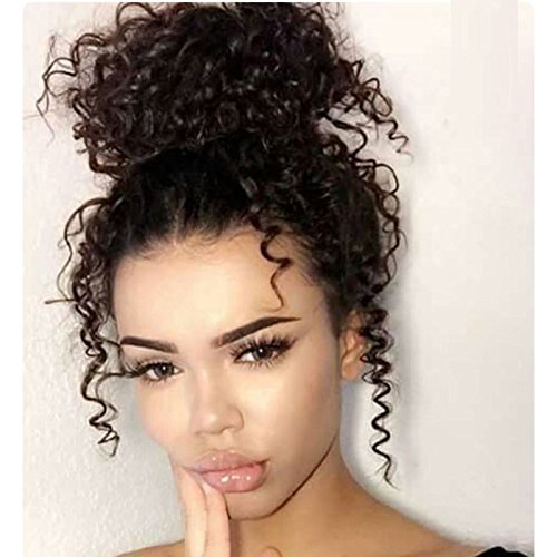 LWigs Lace Human Hair Wigs Pre Plucked Curly Brazilian Remy Hair Lace Wigs With Baby Hair For Black Women (18, 360 lace wig) by Lwigs