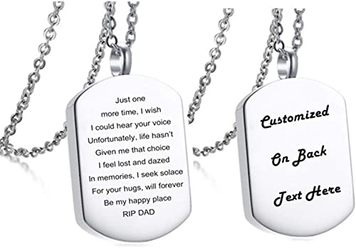 Amazon Com Lifashion Lf Stainless Steel Personalized Cremation Jewelry For Dad Cremation Necklace Locket Memorial Urn Keepsake For Dad Ashes Sentiment Motivational Rip Engraved Pendant For Men Free Engraving Jewelry