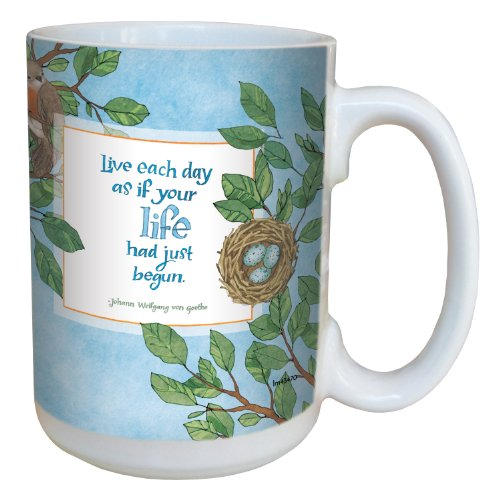 Tree-Free Greetings lm43470 Inspiring Nest of Life by Robin Pickens Ceramic Mug with Full-Sized Handle, 15-Ounce