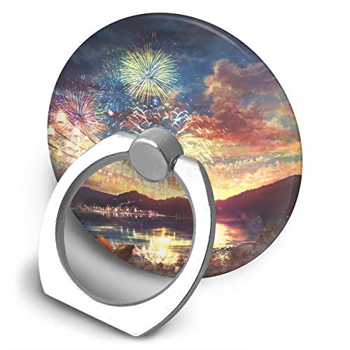 Happy Index Firework 360° Rotation Cell Phone Ring Holder Cellphone Finger Stand for iPhone, IPad, Samsung Galaxy S9/S8 and More Smartphones ()