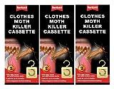 3 x Rentokil Moth Killer Hanging Unit Cassette Twin Pack Protects Clothes Citrus