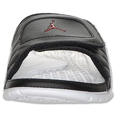 c5623eb2544 Nike Jordan Hydro V 5 Premier White Black 12 Playoffs Slippers Slide  351006-066 [US Size 11]: Amazon.ca: Shoes & Handbags