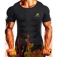 NINGMI Mens Waist Trainer Vest Hot Sweat Shirt Neoprene Sauna Suit Workout Body Shaper Cami for WeightLoss Tummy Fat Burner