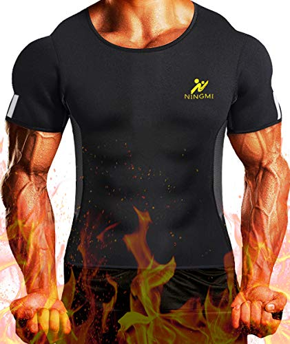 7d34561ce8 NINGMI Mens Waist Trainer Vest Hot Sweat Shirt Neoprene Sauna Suit Workout Body  Shaper Cami for