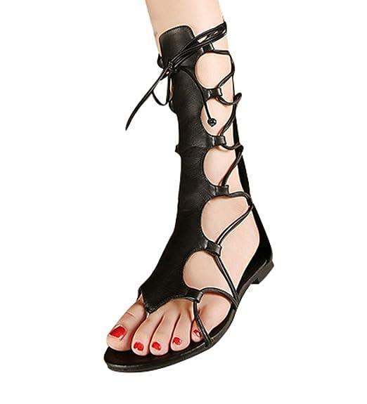 Calzature & Accessori neri con stringhe per donna Lvrao