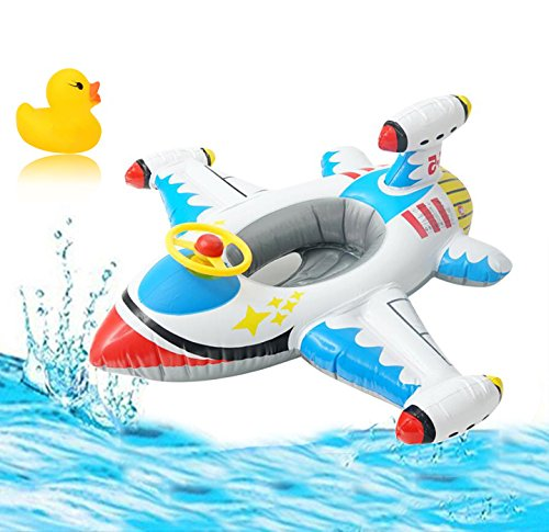 XINYI Airplane Toddler Pool Float Swimming Ring Inflatable Pool Float for Toddlers Kids Boys Child