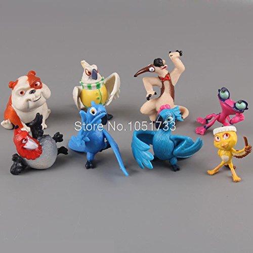 Cartoon Movie Rio 2 Jewel Blu Nico Nigel PVC Action Figure Model Toys Dolls for Children Gifts 8pcs/set DSFG124