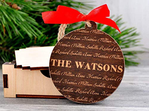 Ornament Personalized Name (Christmas Ornament Personalized Family Name Ornament Christmas Decor Custom Ornament Personalized Family Ornaments Wooden Name Ornaments Laser Engraved Ornament)