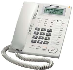 Panasonic KX-TS880W - Teléfono (Analógica, Color blanco, LED, 234,95 x 349,25 x 203,2 mm)